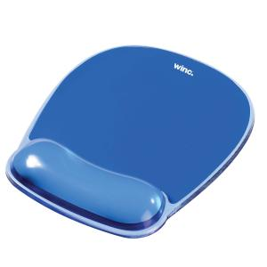 Winc Mouse Pad with Gel Wrist Rest Blue