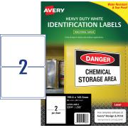 Avery White Heavy Duty Labels for Laser Printers - 199.6 x 143.5mm - 50 Labels (L7068)