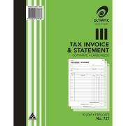 Olympic No.727 Triplicate Carbonless Book Invoice/Statement 250X200mm