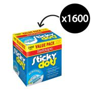 Sellotape Sticky Dots 10mm Removable Adhesive Clear Box 1600