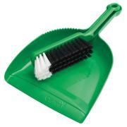 Oates B-10207-G Dust Pan & Banister Brush Green