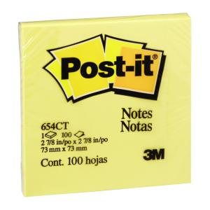 Post-It Notes Canary Yellow 76 x 76mm Pack 12