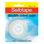 Sellotape Double Sided Tape with Dispenser - 18mm x 15m