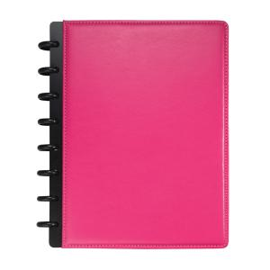 M By Staples ARC Genuine Leather Notebook A5 Pink