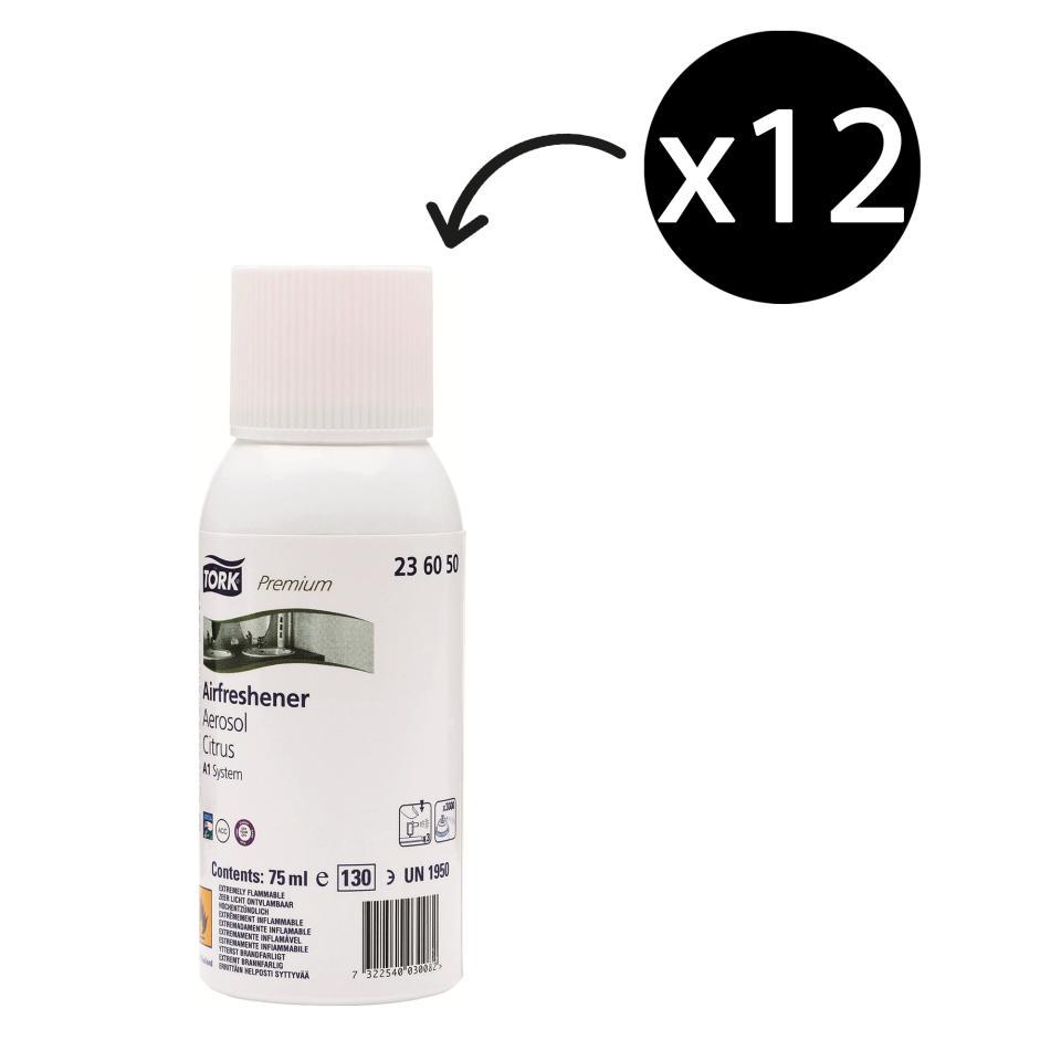 Tork 236050 Citrus Air Freshener Spray A1 Carton 12