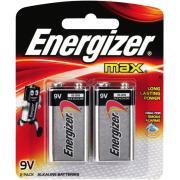 Energiser Max 9v High Performance Alkaline Batteries Pack Of 2