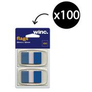 Winc Flags 25 x 43mm Blue Pack 100