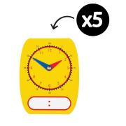 Educational Colours Clock Dial Write On/Wipe Off 12.5 x 16cm Pack 5