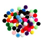 Pom Poms Assorted 13mm Bag 100