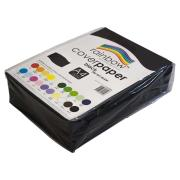 Rainbow Cover Paper 125gsm A4 210X297mm Black Pack 500