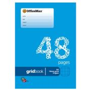 Officemax Exercise Book A4 10mm Grid 48 Pages