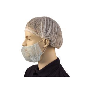 Safechoice Disposable Double Ear Loop Beard Cover Blue Carton 500