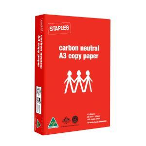 Staples A3 Carbon Neutral Copy Paper 80gsm White Box 3