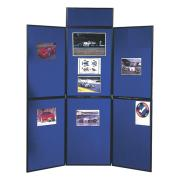 Nobo Portable Display Board Header Panel 250 x 600mm Blue/Black