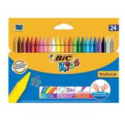 BIC Plastidecor Crayons Assorted Pack 24