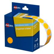 Avery Fluoro Orange Circle Dispenser Labels - 14mm diameter - 700 Labels
