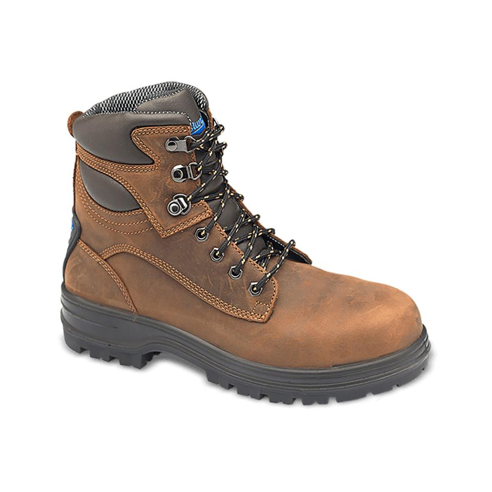 Blundstone 143 Crazy Horse Water Resistant Lace Up Safety Boot