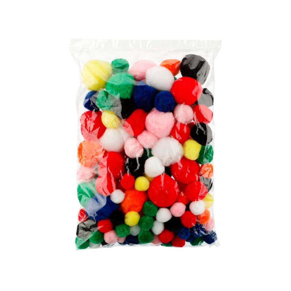 Jasart Pom Poms Standard Colours Assorted Sizes Bag 150