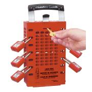Masterlock Lockout Safety Lockbox Red Latch 0503red