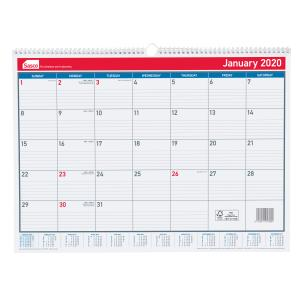 Sasco 2020 Monthly Wall Calendar