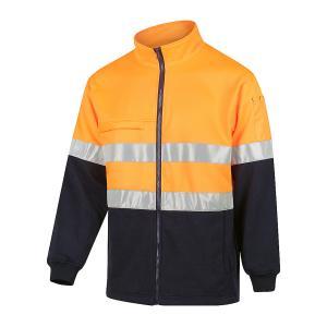 Workit 3007T Hi-vis 2-tone Zip Through Fleecy Jacket with Reflective Tape