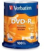 Verbatim DVD-R 4.7 GB / 16x / 120 Min - 100-Pack Spindle
