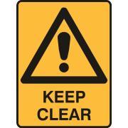 Brady 841650 Sign Keep Clear Metal 450X300mm Each
