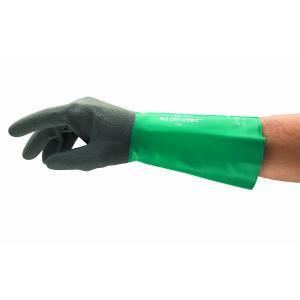 Ansell 58-435 Alphatec Gloves Chemical Heavy Duty Grip Comfort Aquadri Pair