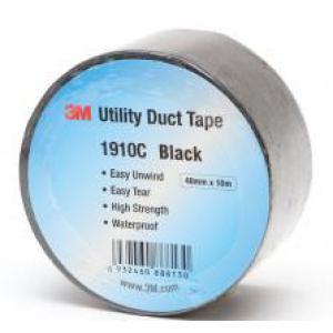 3m Cloth Gaffa Tape 1910C 48mmx50m Black Image