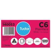 Tudor 140053 Envelope Wallet Presseal 114X162mm C6 White Box 500