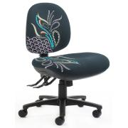 Tjindgarmi Medium Back Task Chair 3 Lever with 140kg Weight Rating Full Colour