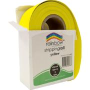 Rainbow Stripping Paper Roll Embossed 50mmx30m Yellow