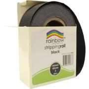 Rainbow Stripping Paper Roll Embossed 50mmx30m Black