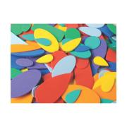 Colorific Foam Shapes Assorted Sizes Pack Of 500