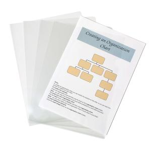 Marbig Letter File A4 Glass Clear Pack 10