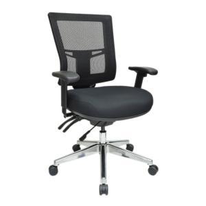 Buro Metro II 24/7 Medium Back Chair With Polished Aluminium Base Black
