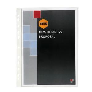 Marbig Sheet Protector Heavy Duty A4 70 Microns Clear Box 100
