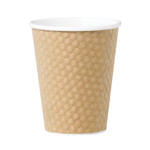 Castaway Dimple Wall Paper Hot Cup 8Oz/280ml Brown Carton 500