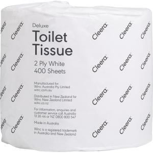 Cleera Toilet Tissue 2 Ply Roll 400 Sheet Carton 48
