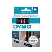 Dymo D1 Label Printer Tape 12mm x 7M White On Black
