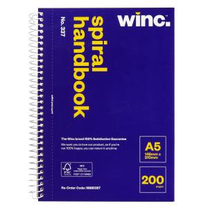 Winc Spiral Notebook No. 337 A5 Perforated 200 Pages