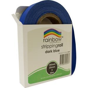 Rainbow Stripping Streamer Roll 25mmx30mm Dark Blue