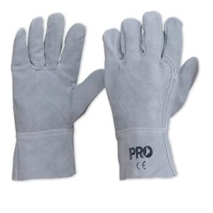 ProChoice 7407 Grey Leather Gloves Size Lrg Pair