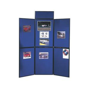 Nobo Portable Display Board Header Panel 250 x 600mm Black & Grey
