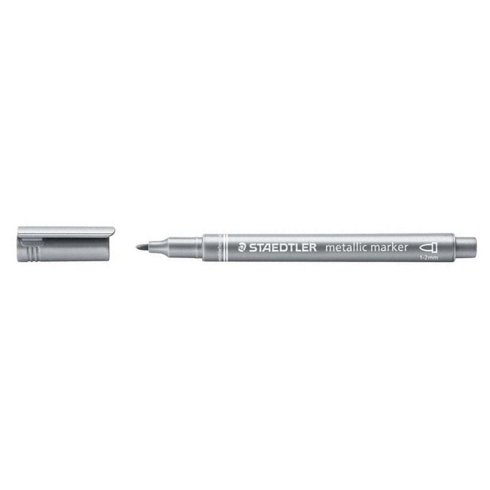 Staedtler Metallic Marker Round Tip Silver
