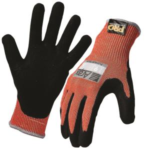Arax Platinun Cut 5 Gloves Pu Nitrile Foam Palm Red Black Pair