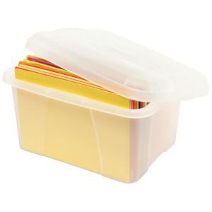 Crystalfile Mini Porta Box with lid 20L Clear