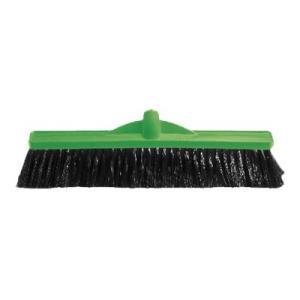 Medium Stiff Poly Broom 450Mm Green B-12131G