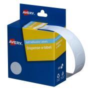 Avery White Circle Dispenser Labels - Hand writable - 18mm diameter - 900 Labels
