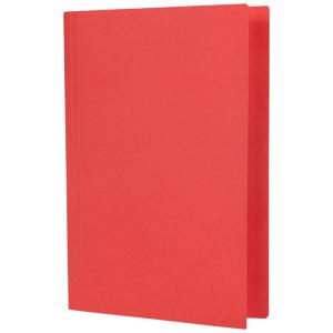 Officemax Manilla Folder Foolscap Red Pack Of 10